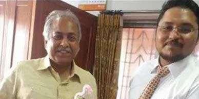 With Jyotirmay Bhattacharya
